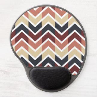 Geometric Designs Color Wine, Teal, Beige, Salmon Gel Mouse Pad