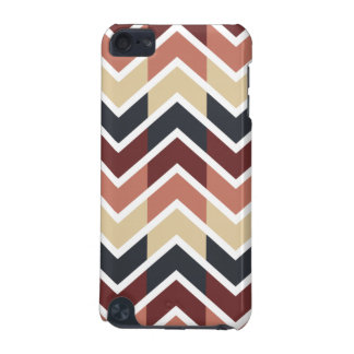 Geometric Designs Color Wine, Teal, Beige, Salmon iPod Touch (5th Generation) Case