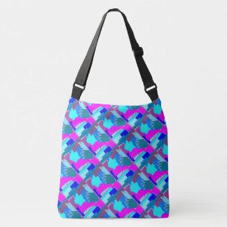 Geometric designs crossbody bag