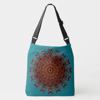 Geometric designs crossbody bag