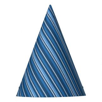 Geometric Diagonal Stripes Party Hat