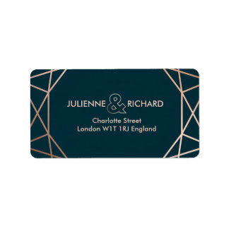 Geometric Diamond Elegant Wedding  Address Labels