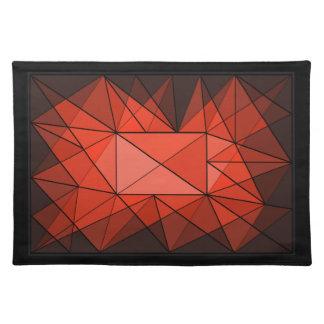 Geometric Diamond Jewel Design Placemat