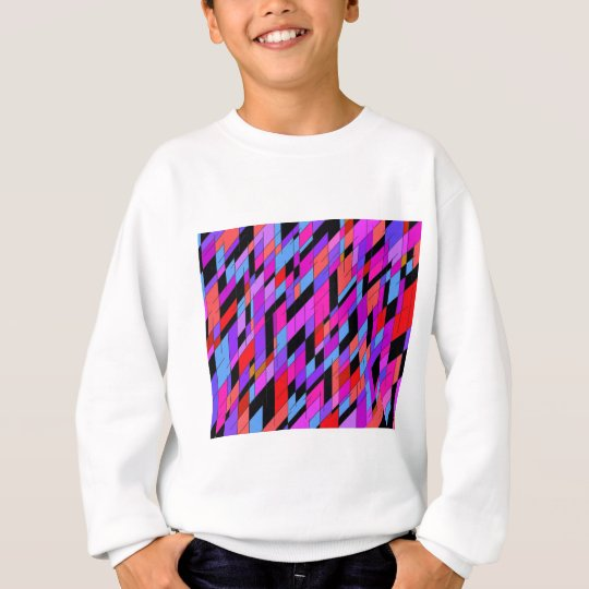 geometric diamonds in deep purple colors. sweatshirt