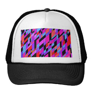 geometric diamonds in deep purple colors. trucker hat