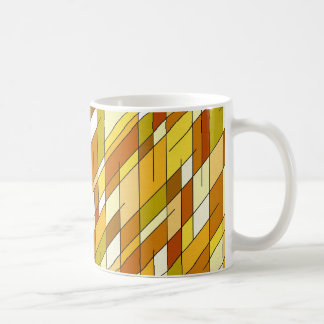 Geometric diamonds in earth tone colors. classic white coffee mug