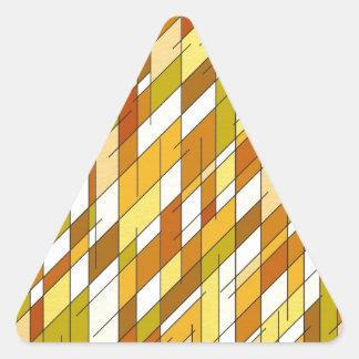 Geometric diamonds in earth tone colors. triangle sticker
