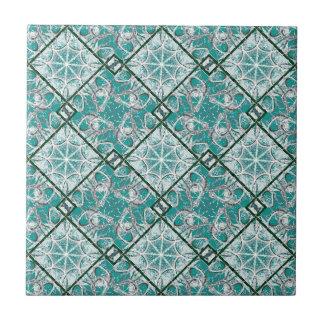 Geometric Diamonds Motif Pattern Ceramic Tile