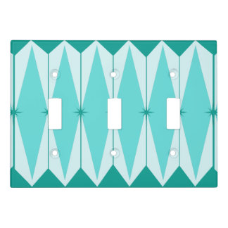 Geometric Diamonds & Starbursts Light Switch Cover