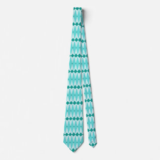 Geometric Diamonds & Starbursts Necktie