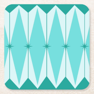 Geometric Diamonds & Starbursts Paper Coasters