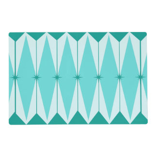 Geometric Diamonds & Starbursts Placemat
