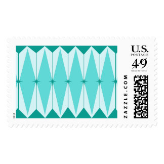 Geometric Diamonds & Starbursts Postage Stamps
