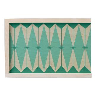 Geometric Diamonds & Starbursts Wood Keepsake Box