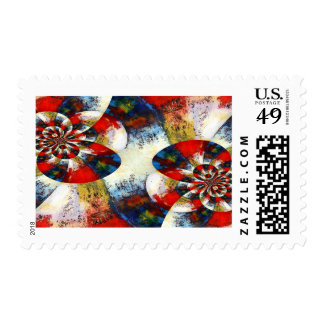 Geometric Digital Modern Abstract Postage Stamp