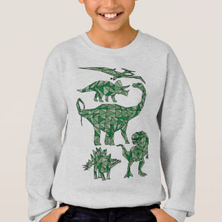 Geometric Dinosaurs Sweatshirt