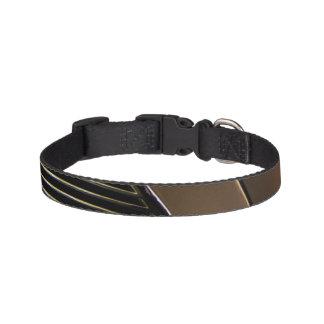 Geometric dog collar - blk-gold