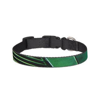 Geometric dog collar - blk-green