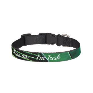 Geometric dog collar - Kiss me I'm Irish