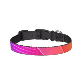 Geometric dog collar - pink tangerine