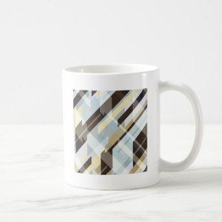 Geometric Earth Tones Abstract Coffee Mug