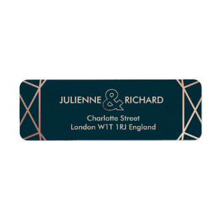 Geometric Elegant Wedding Return Address Labels