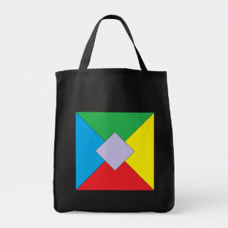 Geometric Elements Grocery Tote Canvas Bags