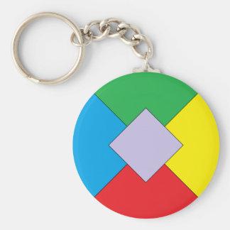 Geometric Elements Keychain