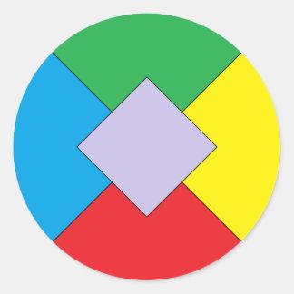Geometric Elements Sticker Round Sticker