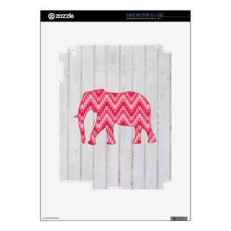 Geometric Elephant on Wood Design Skin For The iPad 2