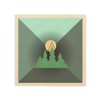 Geometric Evergreen Sun Art