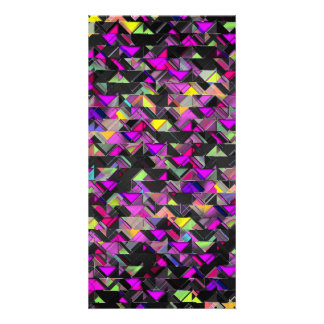 Geometric Explosion Picture Card