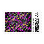 Geometric Explosion Postage Stamps