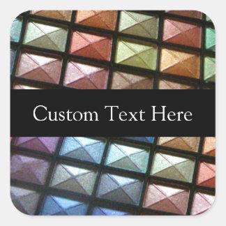Geometric Eyeshadow Makeup Artist Personalized Square Sticker