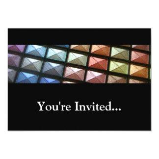 "Geometric Eyeshadow Makeup 5"" X 7"" Invitation Card"