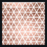 "Geometric faux rose gold foil triangles pattern photo print<br><div class=""desc"">A modern and geometric faux rose gold foil abstract triangles pattern.</div>"