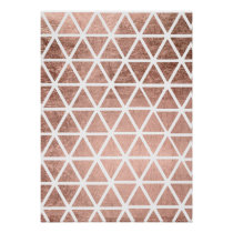 Geometric faux rose gold foil triangles pattern poster