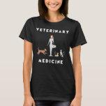 Geometric Female Veterinary Medicine T-Shirt