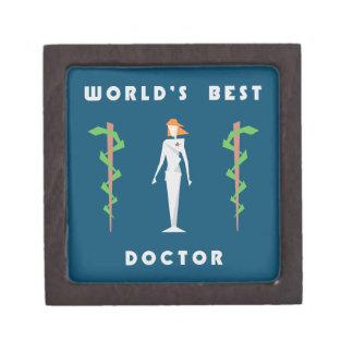 Geometric Female World's Best Doctor Gift Box