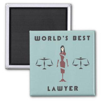 Geometric Female World's Best Lawyer Magnet