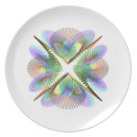 Geometric figure of colorful circles. dinner plate