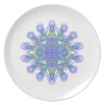Geometric figure of colorful circles dinner plate