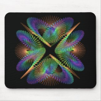 Geometric figure of colorful circles mouse pad