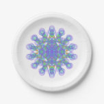 Geometric figure of colorful circles paper plate