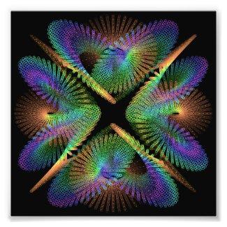 Geometric figure of colorful circles photo print