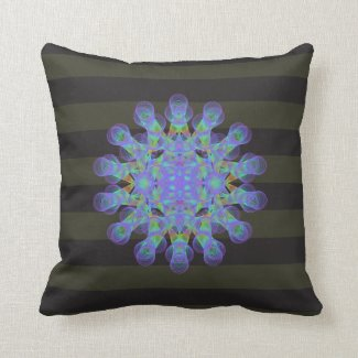 Geometric figure of colorful circles throw pillow