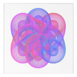 Geometric figures using mathematical expressions acrylic print