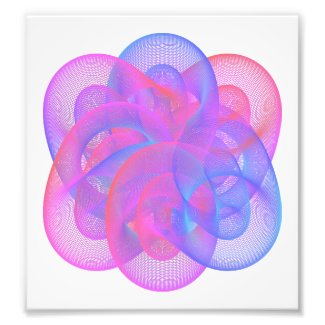 Geometric figures using mathematical expressions photo print
