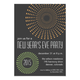 Geometric Fireworks New Year's Eve Party Invites