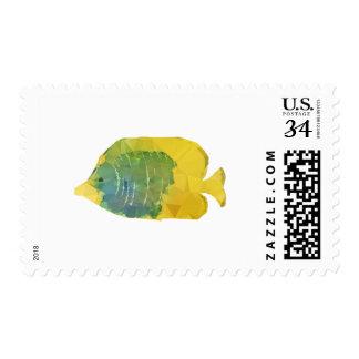 Geometric Fish Postage